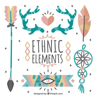 Ethnic pack of beautiful hand drawn elements