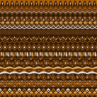 Ethnic pattern in brown tones Free Vector