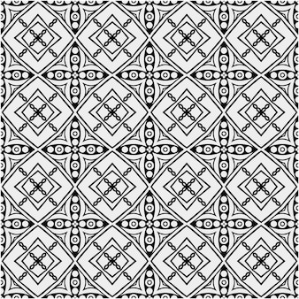 Ethnic pattern with black and white style color