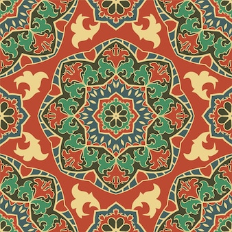 Ethnic pattern with mandala.