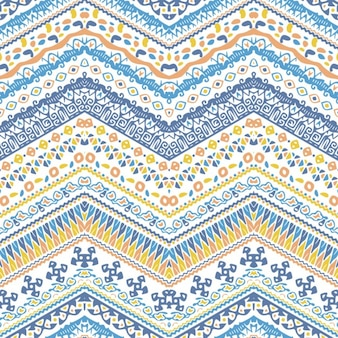 Ethnic pattern with zigzag