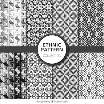 Ethnic patterns in black and white