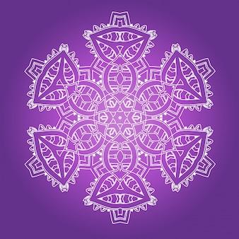 Ethnic psychedelic fractal mandala