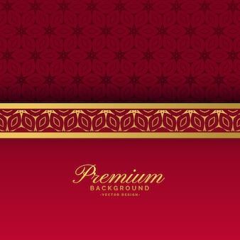 Этнический красный и золотой роскошный королевский фон