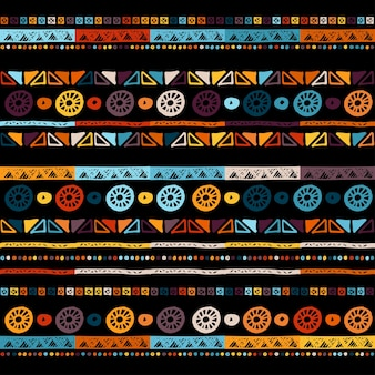 Ethnic seamless in native style.  pattern with american indian symbols