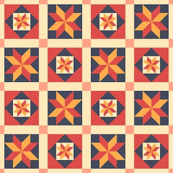 Ethnic seamless pattern in style of patchwork