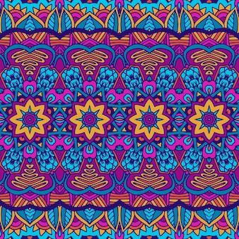 Этнический бесшовный образец. племенной фон. ацтекский и индийский стиль, винтажный принт.