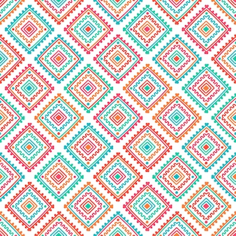 Ethnic seamless pattern. tribal line print in african, mexican, indian style