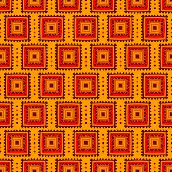 民族のシームレスパターン。アフリカ、メキシコ、インド風の部族ラインプリント