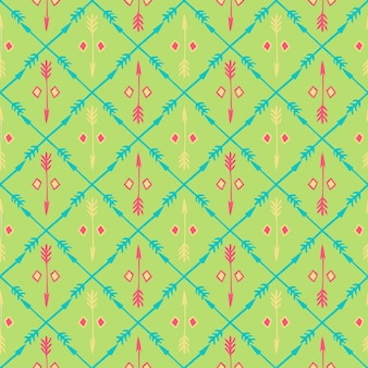Ethnic seamless pattern with arrows