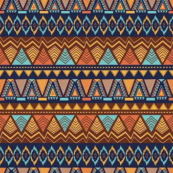 Ethnic seamless pattern with hand drawn geometric abstract