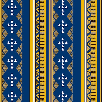 Ethnic seamless pattern with ikat motif