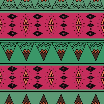 Ethnic seamless pattern with proton purple drawing