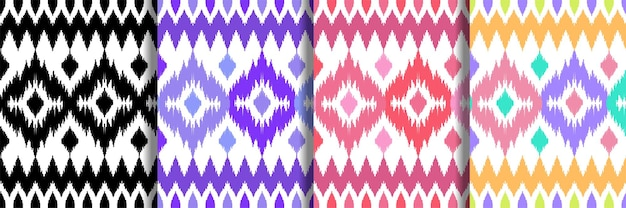 Ethnic seamless patterns set for home textile prints
