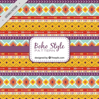 Ethnic shapes pattern in boho style