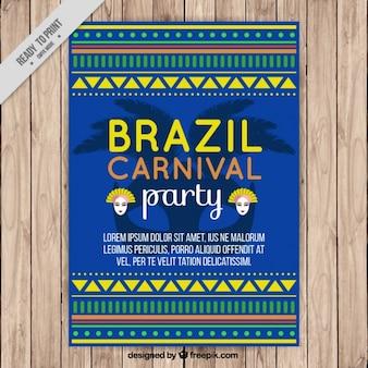 브라질 카니발의 민족 모양 포스터