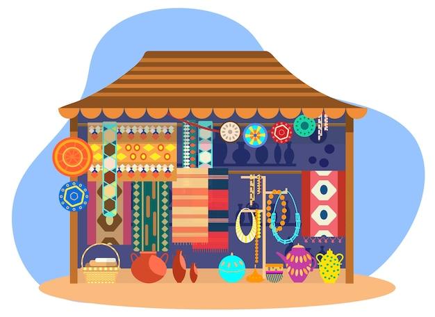 Уличный магазин этнических сувениров