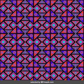 Ethnic squares pattern