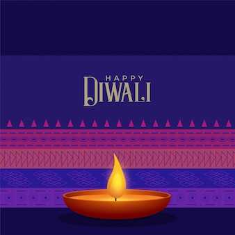 Modello di sfondo festival di diwali stile etnico