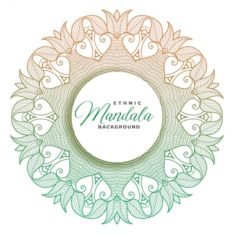 Ethnic style mandala decorative background design