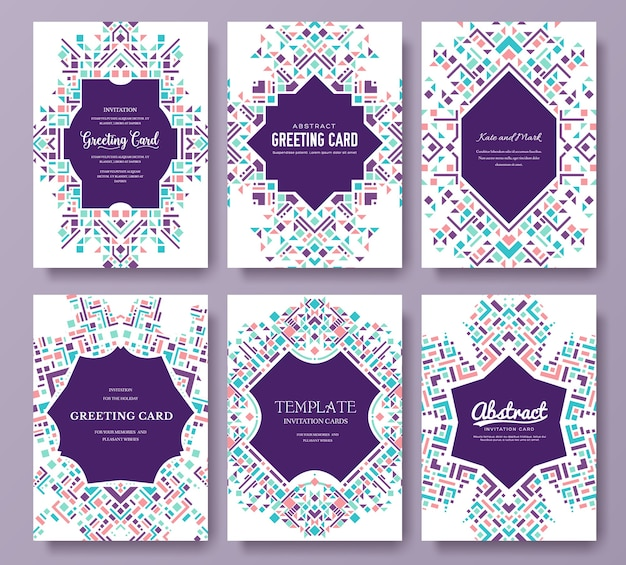 Ethnic style template of flyer illustration