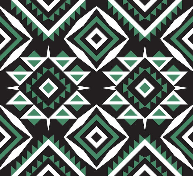 Ethnic or tribal aztec seamless pattern