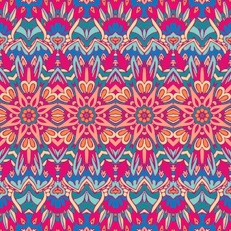 Ethnic tribal festive pattern for fabric abstract geometric colorful seamless pattern ornamental