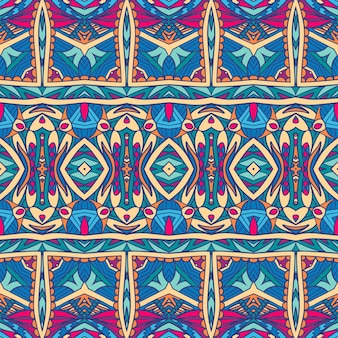 Ethnic tribal festive pattern for fabric. abstract geometric colorful seamless pattern ornamental.