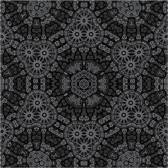 民族ベクトル幾何学的なシームレスパターン。包み紙飾り。アラビア絨毯のシームレスパターン。幾何学的な花の背景