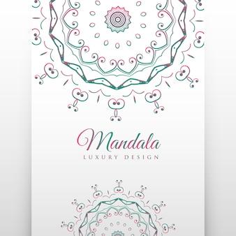 Ethnic white background with mandala decoration