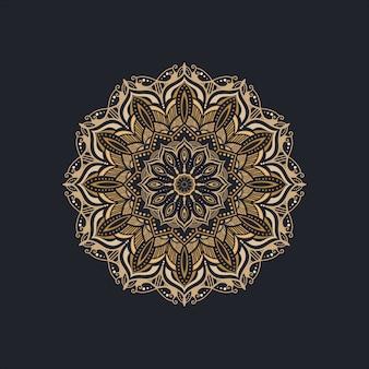 Этнический декоративный орнаментальный дизайн мандалы