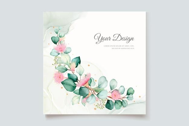 Набор свадебных приглашений с цветком эвкалипта