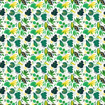Eucalyptus leaves seamless pattern isolated on white