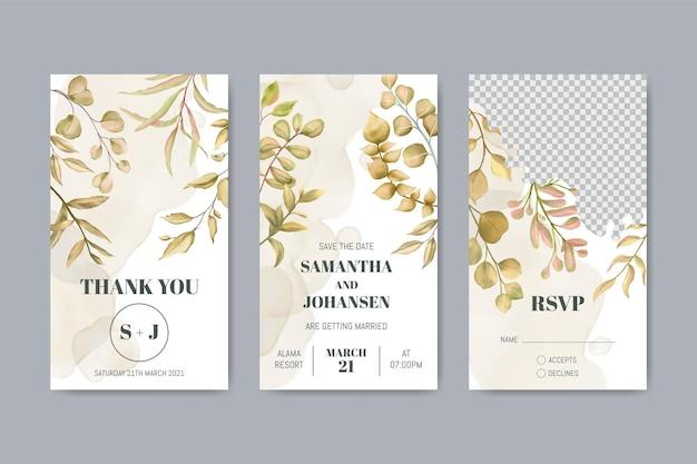 유칼립투스 잎 결혼식 instagram 이야기 템플릿