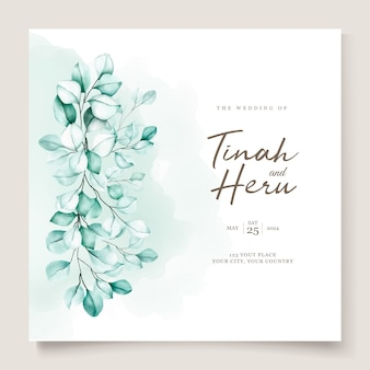 Eucalyptus wedding invitation card set