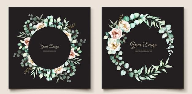 Eucalyptus wedding invitation set