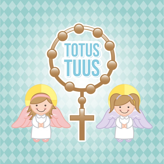 Eucharist design over blue background vector illustration
