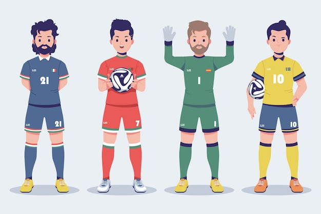 Euro 2020 football player character collection