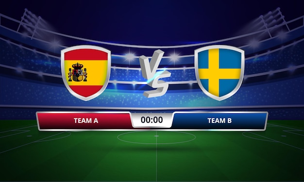 ユーロ カップ スペイン対スウェーデン サッカー フル マッチ スコアボード