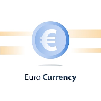 Euro currency coin, cash loan, money exchange, finance concept,  icon