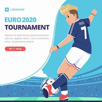 Euro tournament illustration template