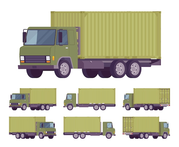 Euro truck with container
