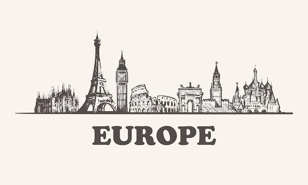 Городской пейзаж европы