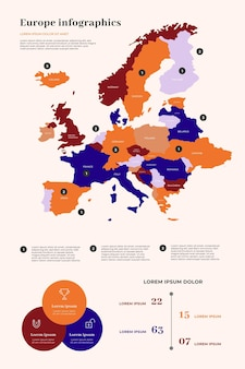 Europa mappa infografica
