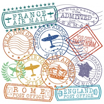 Europe mix postal passport quality stamp
