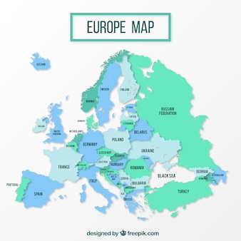 Europe political map design