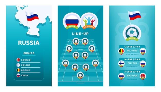 Набор вертикальных баннеров европейского футбола 2020 для социальных сетей