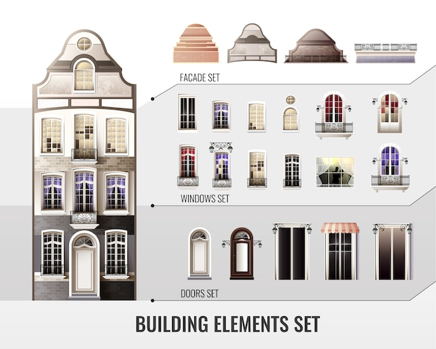 European building elements set