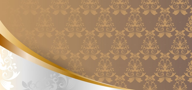 European classic medieval foral pattern, elegance banner,