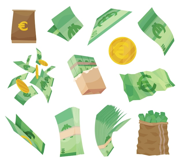 European currency note euro banknotes